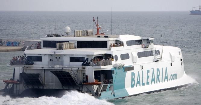Baleària inicia demà la línia d'alta velocitat Dénia-Sant Antoni