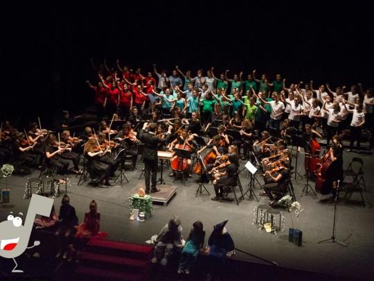 (Español) Baleària Port acoge un concierto de Navidad de la Orquesta Sinfónica Infantil Scordae y una actuación del Circ La Llum
