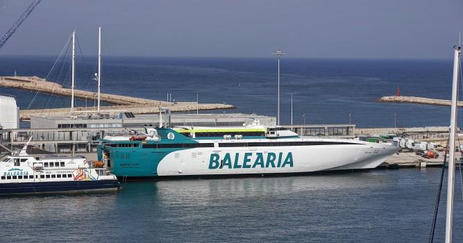 Baleària retoma la línea directa de alta velocidad entre Dénia y Formentera