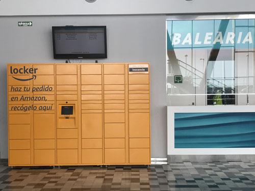 Baleària Port instala un servicio de recogida de pedidos de Amazon