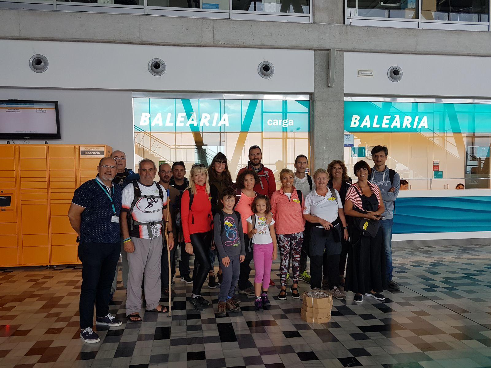 (Español) Baleària Port punto para sellar las credenciales del Camino de Santiago que pasa por Dénia