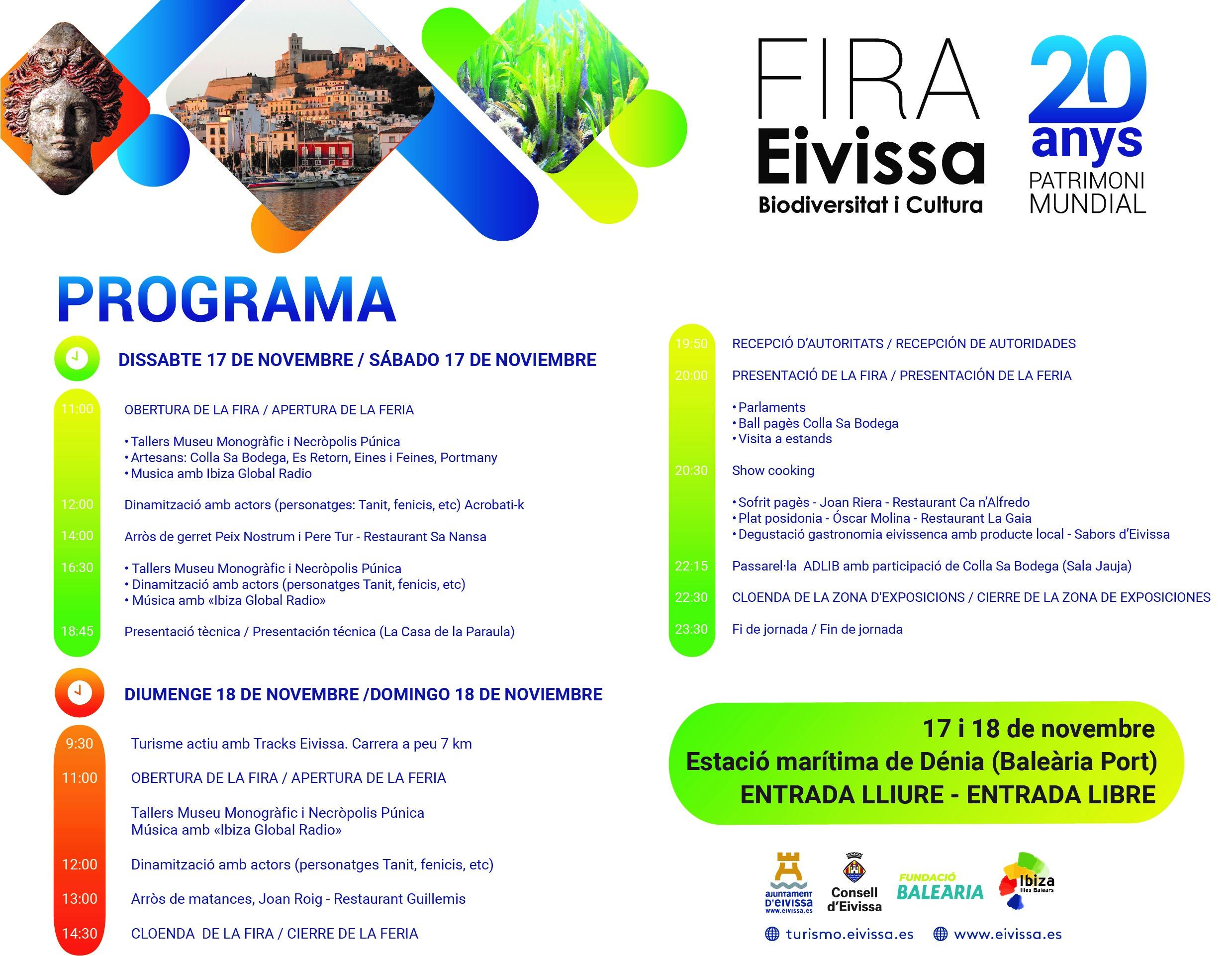 Baleària Port acull una fira gastronòmica i cultural organitzada per l'Ajuntament d'Eivissa